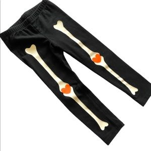 Cat & Jack Skeleton Halloween Leggings Size 3T